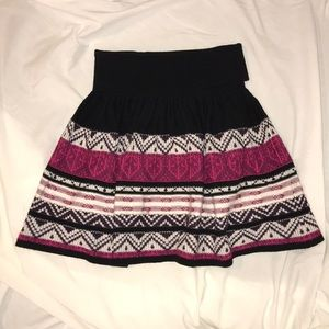 dELIA*S Pink Black and White Knit Skirt